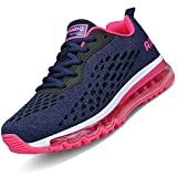 Men Women Running Shoes Air Cushion Sports Trainers Shock Absorbing Sneakers for Walking Gym Jogging Fitness Athletic Casual(Rose Pink/HK78,5.5 UK)