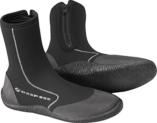 Deep See Atlantic 6.5mm Dive Boot, Black, Size 9 ()