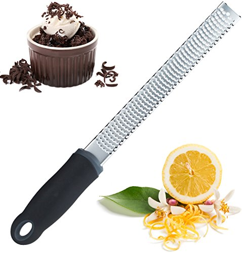 Cheese Grater Zester Shredder – Great for Chocolate, Lemon, Ginger, Garlic, Parmesan, Coconut, Potato, Citrus, Hard Cheeses & Spices by Zulay Kitchen ()