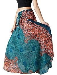 Women's Long Hippie Bohemian Skirt Gypsy Dress Boho...