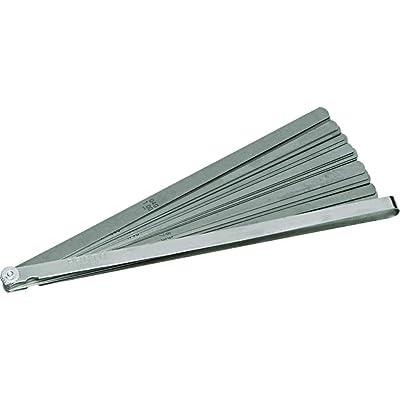 """Proto J000TL 25 Blade Long Feeler Gauge Set (1/2"""" and 12"""" blades in steel holder): Home Improvement"""