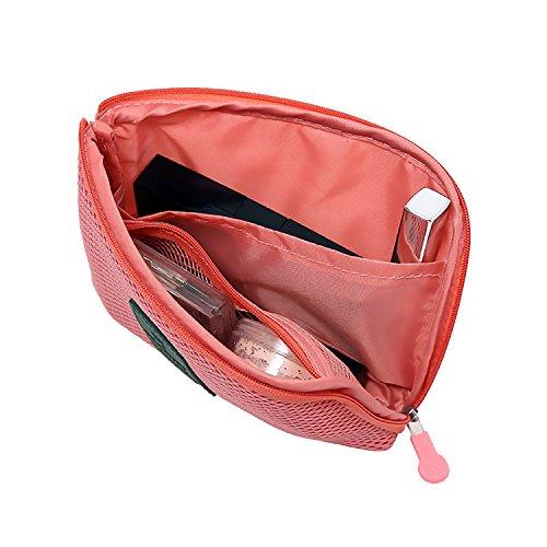 - Travel Makeup BagPortable Makeup BagTravel Pink Multi Function shock proof digital bag (12x14cm, pink)