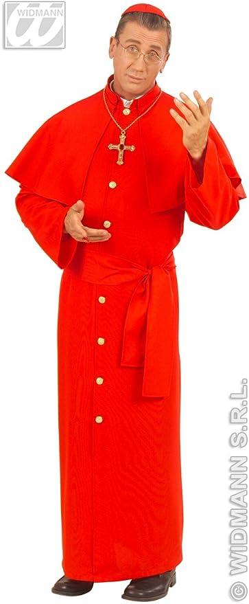 Da Uomo Rosso Cardinale Tessuto Pesante Costume Completo per Papa Prete Bishop Costume