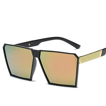 BiuTeFang Gafas de Sol Mujer Hombre Polarizadas Actual Marco de Grandes Gafas de Sol Retro Cuadrados