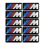 10 Premium M Tec Sport Badge Sticker Emblems for BMW M1 M2 M3 M4 M5 M6 Series Rim Wheels and Accessories with 3M VHB Self-Adhesive