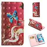 jack and sally iphone case - iPhone 6 Plus/6S Plus Case, UZER 3D Premium PU Leather Shockproof [Kickstand Feature] Folio Flip Wallet Case with Cash/Card Slots Durable Magnetic Book Case for iPhone 6 Plus/iPhone 6S Plus 5.5