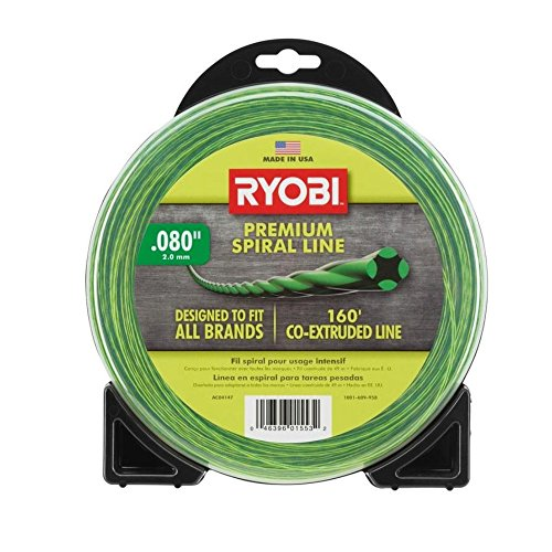 Ryobi AC04147 0.080 in. x 160 ft. Premium Spiral Cordless and Gas Trimmer Line by Ryobi