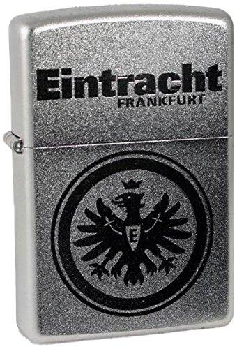 Zippo Eintracht Frankfurt-Chrome Satin-Gravur Sturmfeuerzeug, Mehrfarbig, 6 x 4 x 2 cm
