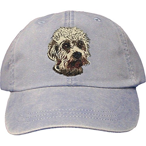 Cherrybrook Dog Breed Embroidered Adams Cotton Twill Caps - Periwinkle - Dandie Dinmont Terrier