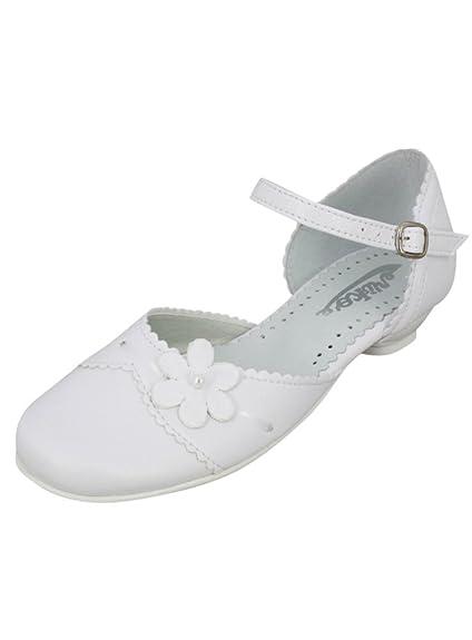 sélection premium moitié prix livraison rapide Boutique-Magique Chaussures Fille Blanches Communion en Cuir ...
