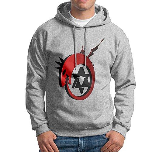 Man Boy Fullmetal Alchemist Logo Hooded Hoodies Sweatshirt (Joseph And The Amazing Technicolor Dreamcoat Logo)