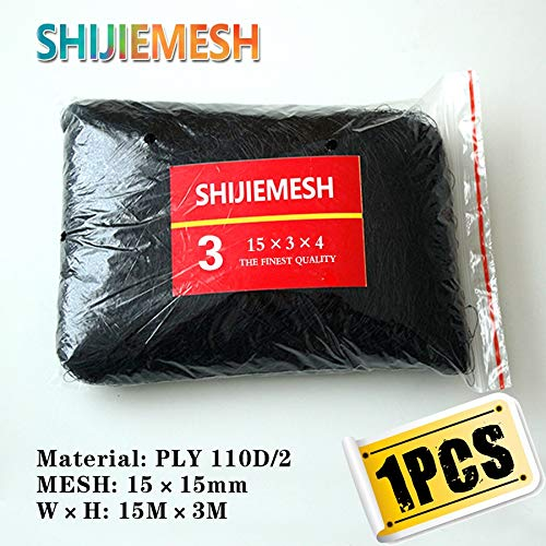 15M x 3M 4 Pockets 15mm Hole Orchard Garden Anti Bird Net Polyester 110D2 Knot mesh Mist Net 1 pcs   20