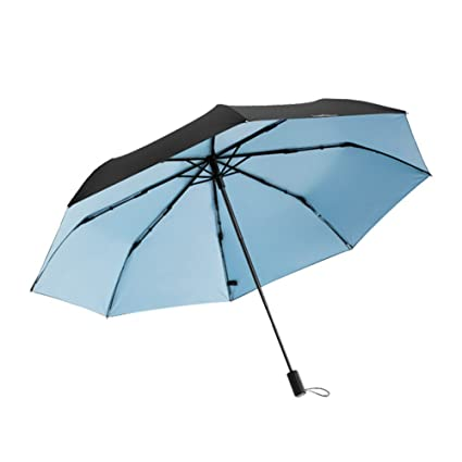 Zxzxzl Protector Solar De Doble Capa Pequeño Paraguas Negro Sombrilla Paraguas Paraguas Mini Paraguas Plástico Negro