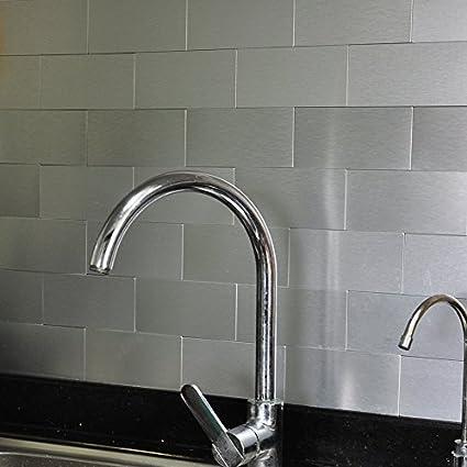 amazon com art3d 100 pieces peel and stick tile kitchen backsplash