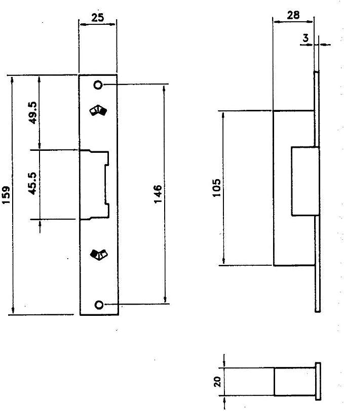 JIS 3010655 Cerradura 12 Voltios 842-901g Frente Gris: Amazon.es: Bricolaje y herramientas