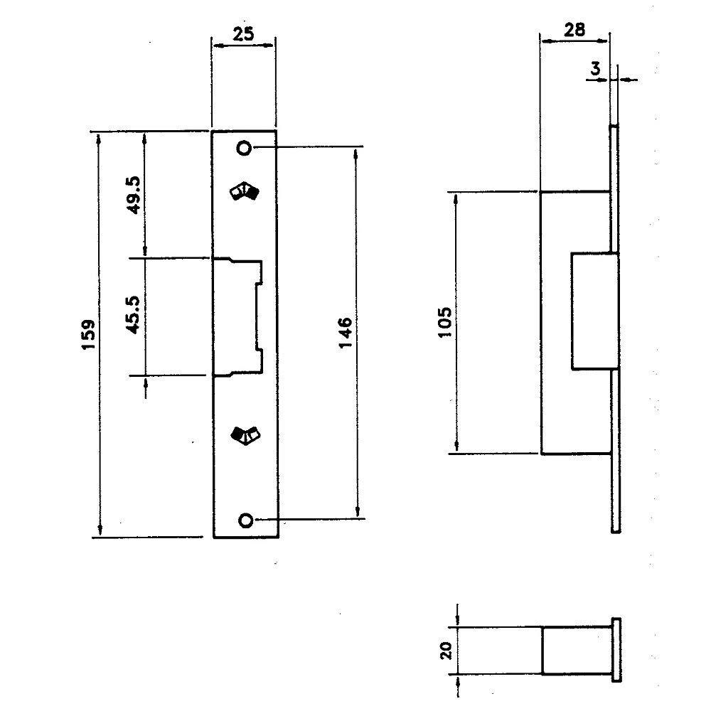 JIS M265743/ /Fermeture /électrique automatique avec avant 832/ /901/G
