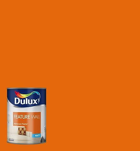 Dulux Matt Paint For Walls Feature, 1.25 L   Moroccan Flame