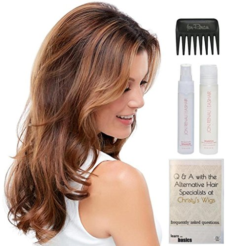 Bundle - 5 Items: easiCrown HD 18'' Hairpiece by easiHair, 15 Page Christy's Wigs Q & A Booklet, HD Smooth Detangler, 2oz Synthetic Shampoo & Wide Tooth Comb Color Selected: 12FS8 by easiHair & Christy's Wigs