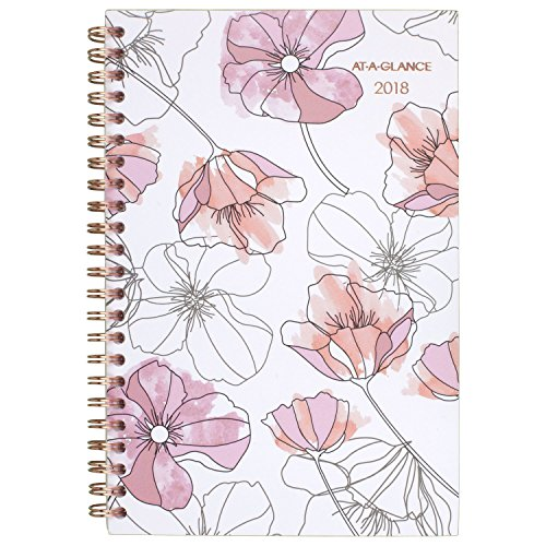 "AT-A-GLANCE Weekly / Monthly Planner, January 2018 - December 2018, 4-7/8"" x 8"", Blush (1041-200)"