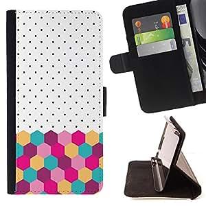 Dragon Case- Mappen-Kasten-Prima caja de la PU billetera de cuero con ranuras para tarjetas, efectivo Compartimiento desmontable y correa para la mu?eca FOR HTC One M9- Girl Cute Pattern