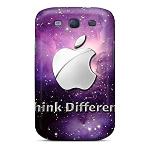 Galaxy S3 Hard Back With Bumper Silicone Gel Tpu Case Cover Think Different 2011