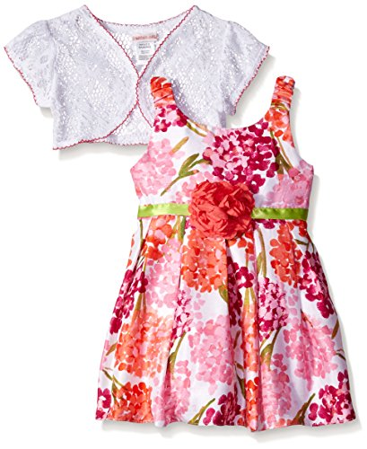 Youngland Little Girls' Floral Shantung Special Occasion ...