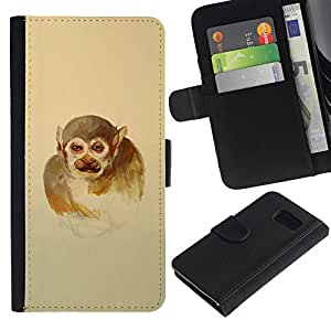 YiPhone /// Tirón de la caja Cartera de cuero con ranuras para tarjetas - Hombre mono - Sony Xperia Z3 Compact
