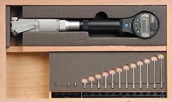 "Mitutoyo 511-521 ABSOLUTE Digimatic LCD Bore Gauge, 1.8-4""/45-100mm Range, 0.00005""/0.001mm Graduation, +/-0.00012""/0.003mm Accuracy"