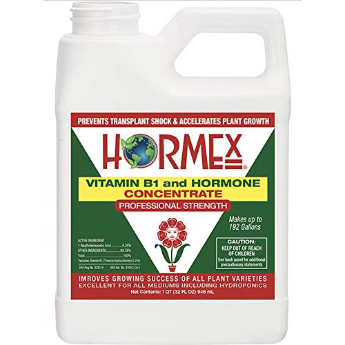 Hormex Vitamin B1 Rooting Hormone Concentrate | Prevents Transplant Shock | Accelerates Growth | Stimulates Roots | for All Plant Varieties and Grow Mediums Including Hydroponics (32 oz) ()