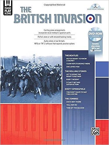 Descarga de libros de google para un kindle Piano Play-Along -- The British Invasion: Piano/Vocal (Book & DVD-ROM) (Alfred's Piano Play-Along) in Spanish PDF ePub MOBI