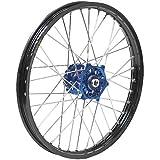 Dubya Talon Blue Hub with Black Rim Painted Finish Front Wheel 56-6175DB