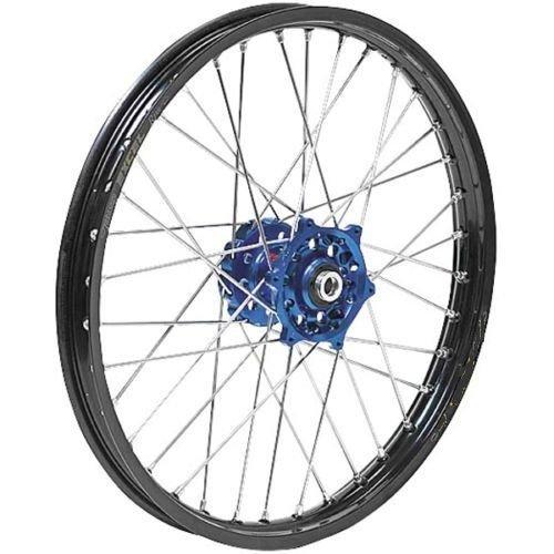 Dubya Talon Blue Hub with Black Rim Painted Finish Front Wheel 56-6175DB by Dubya (Image #1)
