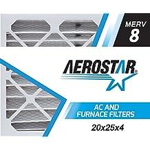 20x25x4 Filter | 6 PACK | MERV 8 - High Efficiency | Furnace Air Filter |