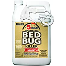 Harris NEW 5-Minute Bed Bug Killer - Patent Pending Technology Used by Exterminators, Non-Staining and Kills All Bed Bug Life Stages (Gallon)