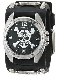Nemesis Mens MIC906K Cross Bone Skull Watch