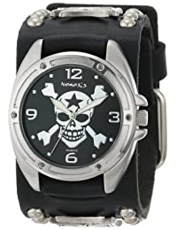 Nemesis Men's MIC906K Cross Bone Skull Watch
