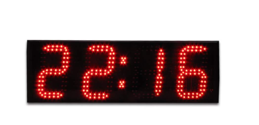Huanyu 6 inch Large Screen Electric Digital Display Wall Decorative LED Clock Digital World time Wall Clock (Green) Huanyu Instrument®