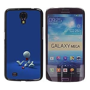 TopCaseStore / la caja del caucho duro de la cubierta de protección de la piel - Funny Minimalist Figure - Samsung Galaxy Mega 6.3 I9200 SGH-i527