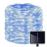WONFAST 100 LEDs Solar Rope String Lights, Waterproof...