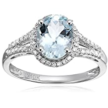 10k Diamond Oval Halo Engagement Ring (1/5cttw, H-I Color, I1-I2 Clarity), Size 7