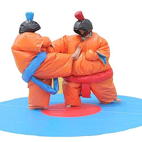 Wrestling Sumo Suit Adult Pair Wrestler Dress Sport Entertainment Costume/2 Suits Set (Orange)]()