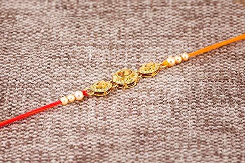 Rakhi Thread for Brother Bhaiya Traditional Rakshabandhan Rakhee Bracelet (Design 6) by Simply Indian Rakhi