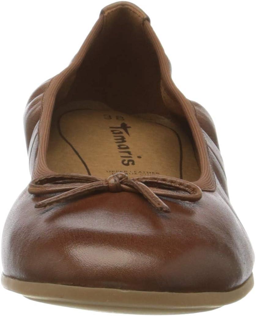 Tamaris 1-1-22196-24, Ballerines Femme Marron Cognac 305
