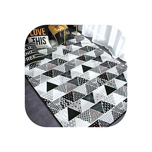 (Carpet Area Rugs for Home Living Room Bedroom Kids Room Plush Anti-Slip Geometric Printing Mat Home Decoration Tapis Salon,Color 3,80x190cm)