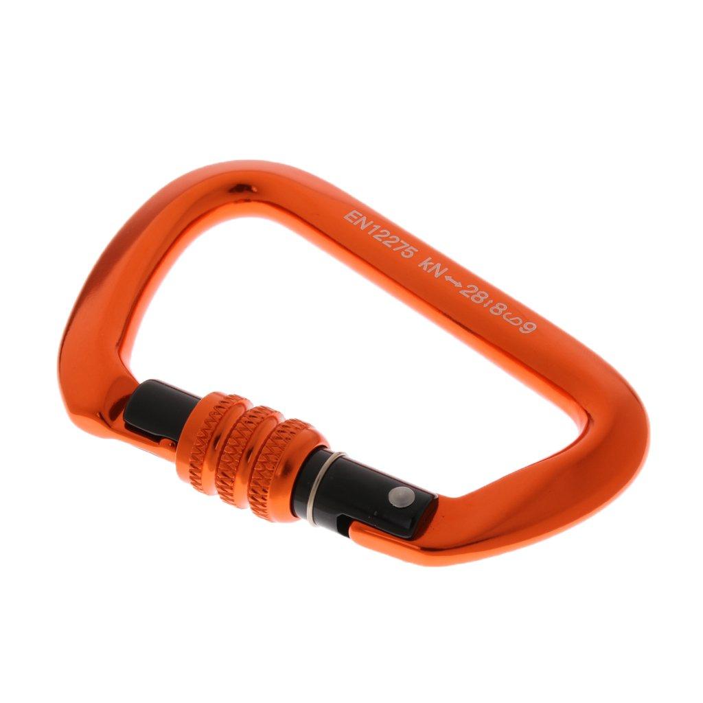 Baosity Pack of 4pcs Heavy Duty Durable 28KN Aluminum Screw Locking Rescue Climbing Carabiner Hook 4.3'' x 2.8'' by Baosity (Image #9)