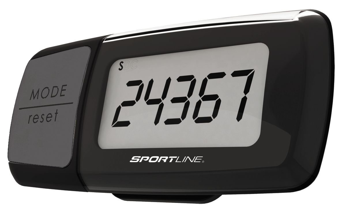 Sportline Triple Function Calorie Counting Pedometer, Black
