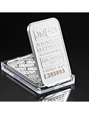 Johnson Matthey Replica Fine Silver 999 1 Ounce Troy Bar/Coin Collection Gifts with Diffferent Serial Number