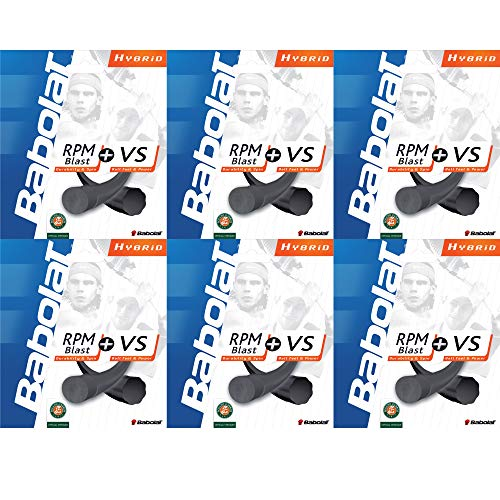 [VUTENNISCOM] Babolat RPM Blast (Polyester) and VS Touch (Natural Gut) Hybrid Tennis String (6)