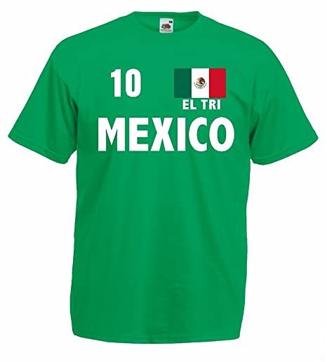c1c2d2ed278643 Fruit of the Loom world-of-shirt Mexico EL TRI Herren T-Shirt Fan ...