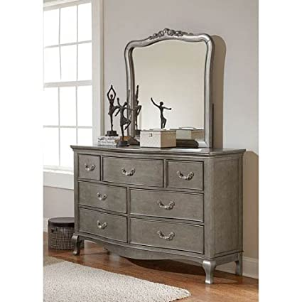 Amazon.com: Hillsdale Furniture 30500NDM Kensington 7 Drawer Dresser With  Mirror, Antique Silver: Kitchen U0026 Dining